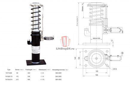 Буфер гидравлический YH71A/80