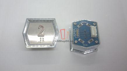 Кнопка приказа ANNIU-PCB-V7 (Брайль, 2)