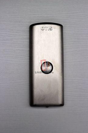 Панель вызова LOP 1 шлифованная, голубая подсветка, плата HBB OTIS