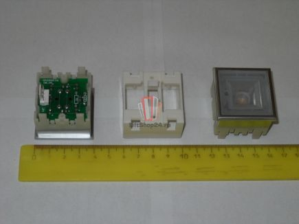 Кнопка тип KT40 STEP C, 40х40мм, зеленая подсветка, без нажимного элемента ThyssenKrupp