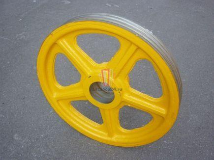 КВШ диаметр 500мм на 3 каната, диаметр каната 12 мм (500х3х12) SIGMA